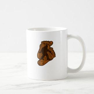 ビッグフットのプリント コーヒーマグカップ