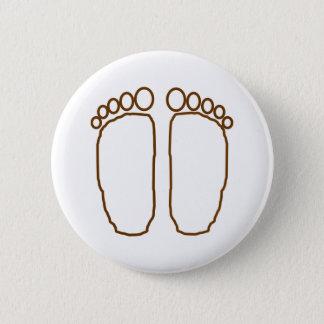 ビッグフットの足は透明印刷します 5.7CM 丸型バッジ