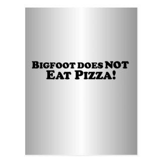ビッグフットは基本ピザを-食べません ポストカード