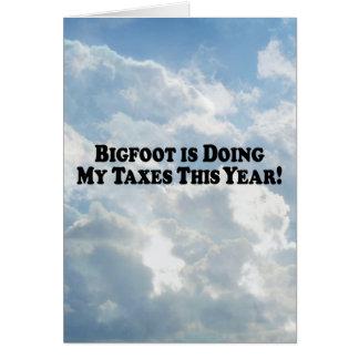 ビッグフットは基本私の税を-しています カード