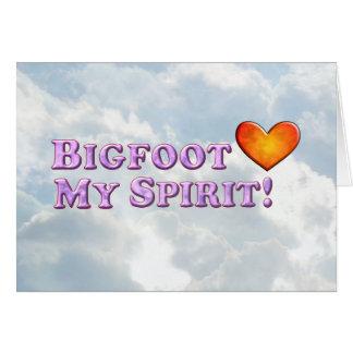 ビッグフットは基本私の精神を-愛します カード