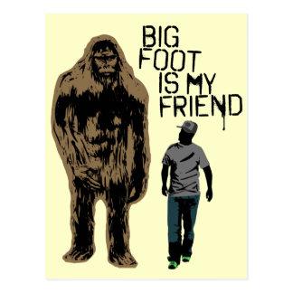 ビッグフットは私の友人です ポストカード