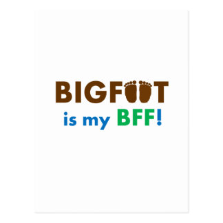 ビッグフットは私のBFF (永久に親友)です! ポストカード