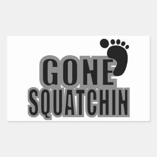 ビッグフットギフトによって行くSquatchinのロゴの黒の灰色 長方形シール