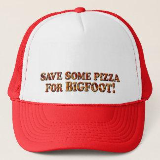 ビッグフット-トラック運転手の帽子のためのピザを救って下さい キャップ