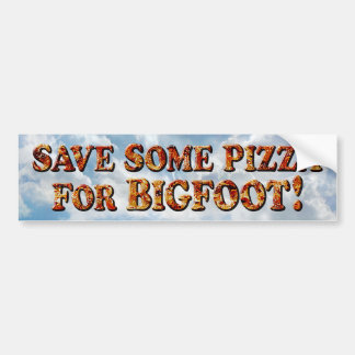 ビッグフット-バンパーステッカーのためのピザを救って下さい バンパーステッカー