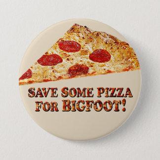 ビッグフットw/Slice -ボタンのためのピザを救って下さい 7.6cm 丸型バッジ