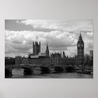 ビッグベンおよび議会(ロンドン) ポスター