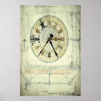 ビッグベンのデザインの計画 ポスター