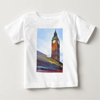 ビッグベンのデザイン ベビーTシャツ