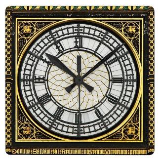 ビッグベンの文字盤 スクエア壁時計