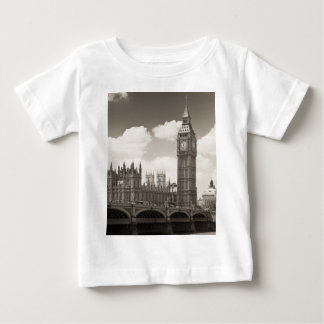 ビッグベンの時計台ロンドン ベビーTシャツ