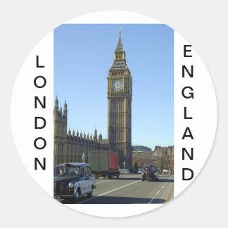 ビッグベンの時計台ロンドン ラウンドシール