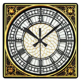 ビッグベンの時計 スクエア壁時計