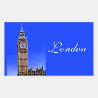 ビッグベン-ロンドン 長方形シール