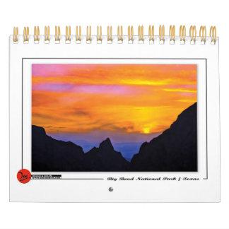 ビッグ・ベンド国立公園のカレンダー カレンダー