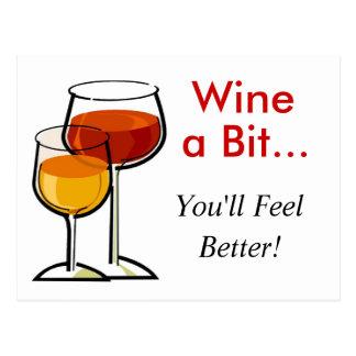 ビットはワインを飲みます…あなたがよりよく感じる! ポストカード