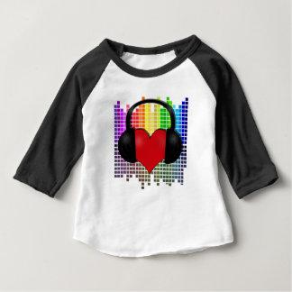 ビットトランスペアレントハート ベビーTシャツ