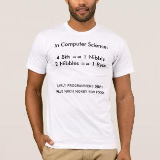 ビット、少量およびバイト Tシャツ