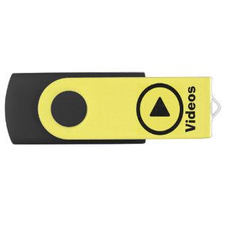 """ビデオのためのUSBのフラッシュドライブ-シンプルな""""演劇""""アイコンが付いている… USBフラッシュドライブ"""