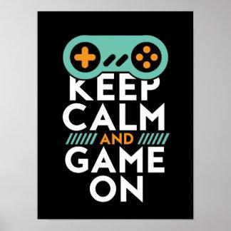 ビデオゲームのギークのためのポスターの穏やかなゲームを保って下さい ポスター