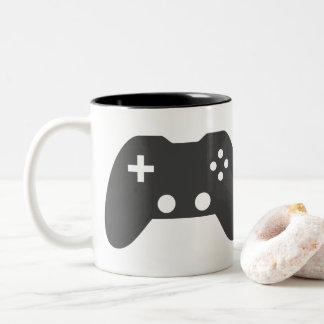 ビデオゲームのコントローラーのマグ ツートーンマグカップ