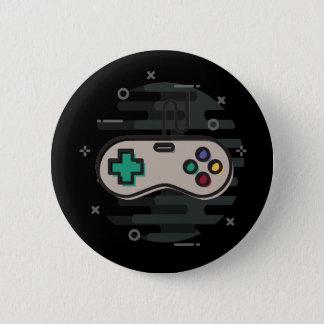 ビデオゲームのコントローラーボタン 5.7CM 丸型バッジ