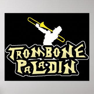 ビデオゲームのパロディのトロンボーンの義侠の士 ポスター