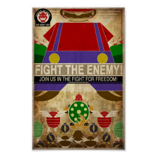 ビデオゲームのプロパガンダ ポスター