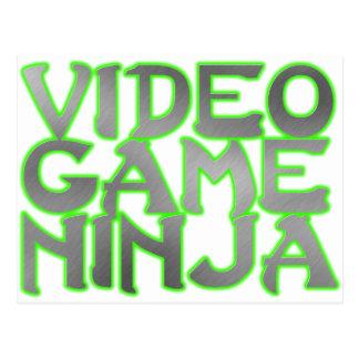 ビデオゲームの忍者(緑) ポストカード