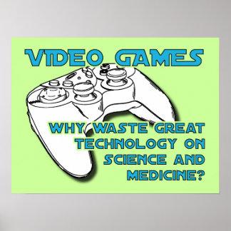 ビデオゲームの技術おもしろいなポスタープリントの印 ポスター