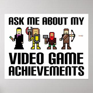 ビデオゲームの達成のおもしろいなポスター ポスター