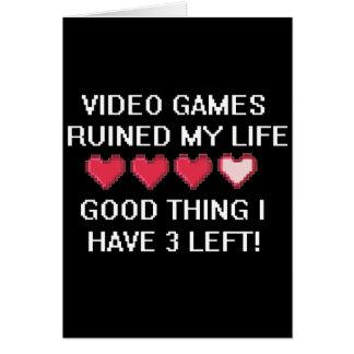 ビデオゲームは私の生活様式1を台無しにしました カード