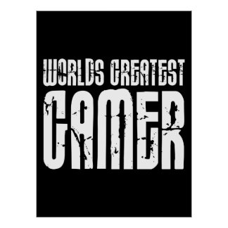 ビデオゲーム賭博及びゲーマーの世界のすばらしいゲーマー ポスター