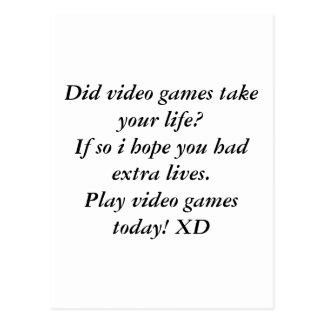 ビデオゲーム ポストカード