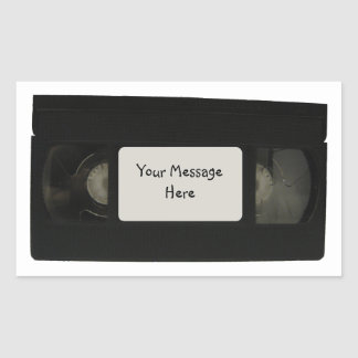 ビデオテープのステッカー 長方形シール