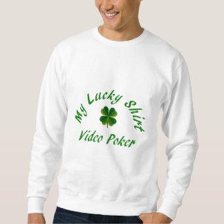 ビデオトランプのポーカー、幸運なクローバー スウェットシャツ