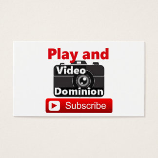 ビデオ支配権YouTubeは予約購読し、遊びます 名刺