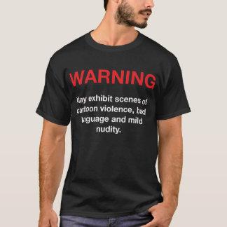 ビデオ警告 Tシャツ