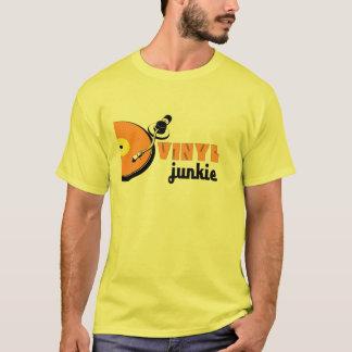 ビニールのJunckie DJのターンテーブルSL1210クラブディスクジョッキー Tシャツ