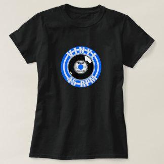 ビニール45の青 Tシャツ