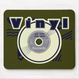 ビニール45 RPMの記録はあなた自身の文字か年をカスタマイズ マウスパッド