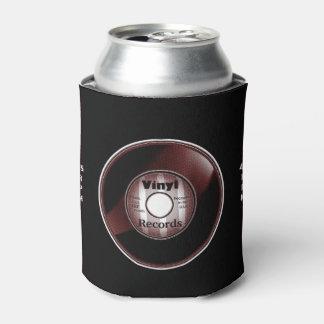 ビニール45 RPMは、赤いバーガンディか白または黒記録します 缶クーラー