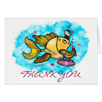 ビバリー・ヒルズの美しいの魚のおもしろカードありがとう カード
