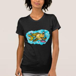 ビバリー・ヒルズの美しいの魚-おもしろいでかわいいTシャツ Tシャツ