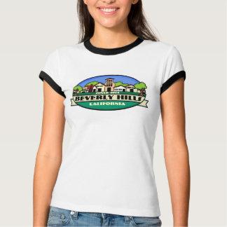 ビバリー・ヒルズカリフォルニアの金町の女性ティー Tシャツ