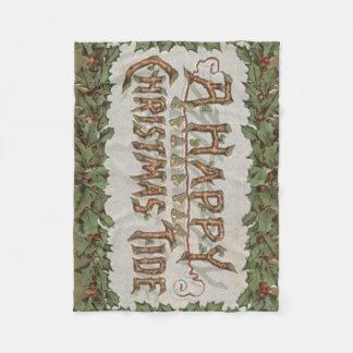 ビュッシュ・ド・ノエルのヒイラギの鐘のクリスマスの潮 フリースブランケット