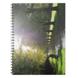 ビュート公園-秋の木 ノートブック
