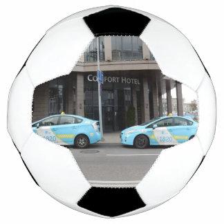 ビリニュスリスアニアのタクシー サッカーボール
