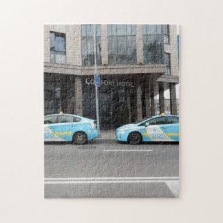 ビリニュスリスアニアのタクシー ジグソーパズル